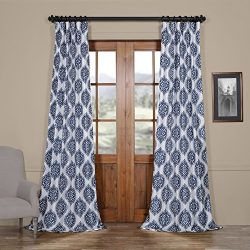 HPD HALF PRICE DRAPES Ptpch-170808A-108 Donegal Printed Faux Silk Taffeta Blackout Curtain, 50 x ...
