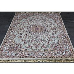 Art Frame Direct Power Loom Made Oriental Rug, 7′ x 10′, Ivory
