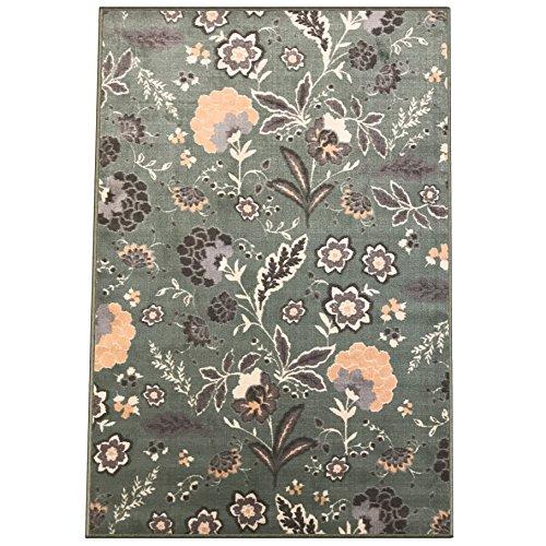 Silk & Sultans Agathe Collection Floral Design, Pet Friendly, Non-Slip Area Rug with Rubber  ...