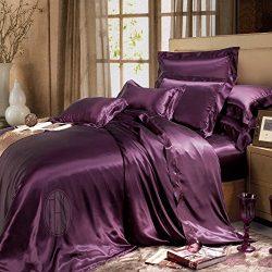THXSILK 19 Momme Silk Duvet Cover, Silk Comforter Covers, Luxury Bedding – Ultra Soft,Mac ...