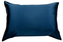 Celestial Silk 100% Silk Pillowcase for Hair Luxury 25 Momme Mulberry Silk Queen (Navy Blue)