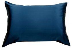 Celestial Silk 100% Silk Pillowcase for Hair Luxury 25 Momme Mulberry Silk Queen (Navy Blue)