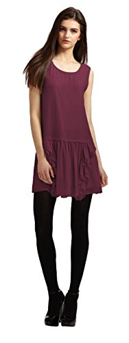 Theory Rinoe Georgette Silk Bordeau Ruffle Dress 8