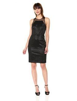 Vera Wang Women's Sleeveless Cocktail Dress, Black, 8