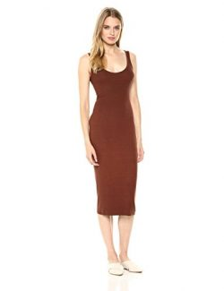 Enza Costa Women's Stretch Silk Rib Tank Midi Dress, Hawthorn, S