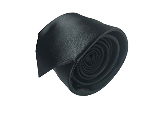 Luxury Mens Neckties,100% Italian Microfiber Hand Made, 15 Awesome Variations (Black)