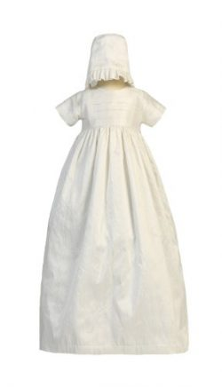 Silk Heirloom Gown with Two Hats (Boy and Girl) Christening Baptism Special Occasion Family Outf ...