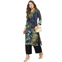 Lagi Kurtis Ethnic Women Kurta Kurti Tunic Gold Foil Printed Top Dress Casual Wear New Launch by ...