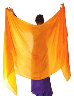 Nahari Silks 100% Silk Veil Saffron 108″
