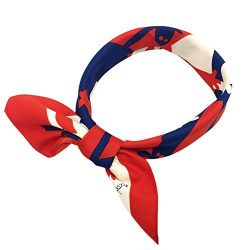 YOUR SMILE Silk Like Scarf Women's Fashion Pattern Large Square Satin Headscarf Headdress 24&#82 ...