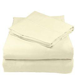 Whisper Organics 100% Organic Cotton Sheet Set, 300 Thread Count – GOTS Certified (Full, N ...