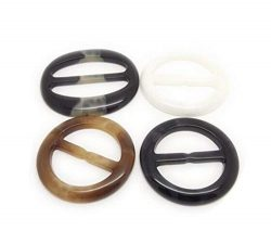 6PCS Plastic Round Smoothly Fashion Silk Scarf Clip Clasp Ring Scarf Buckle Slides for Twilly Ne ...