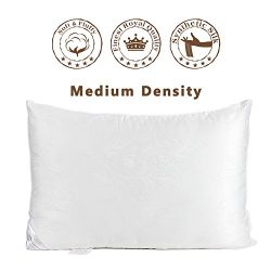 The Duck And Goose Co Soft Down Alternative Pillow,Hotel Quality Pillow with Luxury Jacquard Co ...