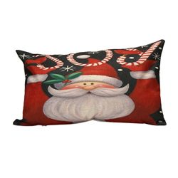 Ninasill Christmas Pillow Cover, ღ ღ Exclusive Pillow Sofa Waist Throw Cushion Cover Home Decor (B)