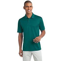 Mens Short Sleeve Moisture Wicking Silk Touch Polo Shirt, 2XL, Teal Green