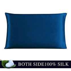 JULY SHEEP-Queen size Pure Silk Pillowcase,Natural 100% Mulberry Silk,19 momme, 600 thread count ...