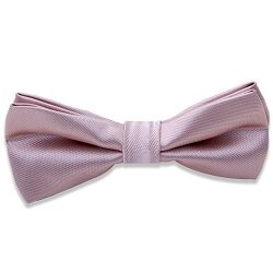 Kids Boys Silk Bow Ties – Adjustable Bowtie for Baby Toddler Gifts (Bare Pink)