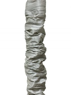 Royal Designs Gray Cord & Chain Cover- 4 feet- Silk-type Fabric Touch Fastener – Use f ...