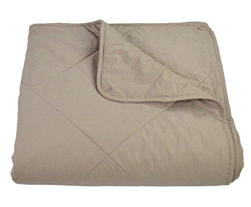 Empress Home Washable Silk Filled Comforter – King- Taupe