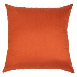 Set of 2 Rust Art Silk Pillow Covers, Plain Silk Cushion Cover, Solid Color Rust Throw Pillow, ( ...