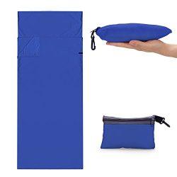 Sleeping bags Liner, Ultralight Cotton Envelope Lightweight Portable Single Blanket With Hook Gr ...