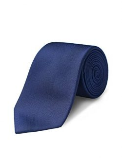 ORIGIN TIES Men's Fashion 100% Silk Solid 3 inches Standard Tie Navy Blue