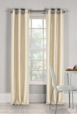 DUCK RIVER TEXTILES – Bali Faux Silk Grommet Top Window Curtain 2 Panel Drape, 54 X 96 Inc ...
