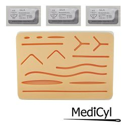 Original Suture Practice Pad and Complete Kit with Wounds | 3-Layer + Extra Durable + Silk Threa ...