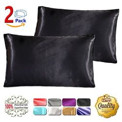 Silk Satin Pillowcase Standard Us For Hair And Skin Hypoallergenic King Size Silk Pillowcase Que ...