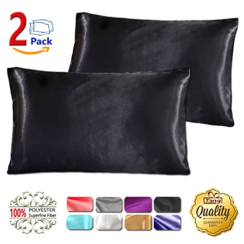 Silk Satin Pillowcase Standard Us For Hair And Skin Hypoallergenic King Size Silk Pillowcase Que ...