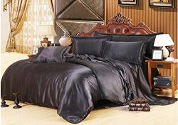 Mulberry Silk Products Std Mulberry Silk Pillow Case, Standard, Black