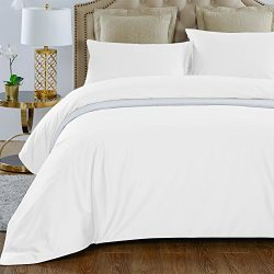 THXSILK 4 Piece Silk Comforter Set for Summer – White, King – Soft, Hypoallergenic,  ...