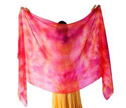 Nahari Silks 100% Silk Fire 108″