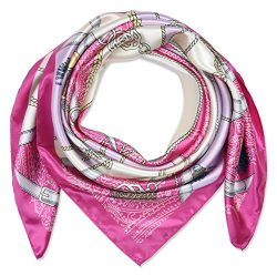 corciova 35″ Large Women's Satin Square Silk Feeling Hair Scarf Wrap Headscarf Frenc ...