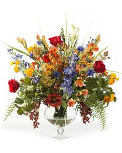 Glorious Garden Silk Flower Centerpiece