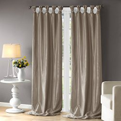 Madison Park Taupe Curtains For Living room, Transitional Window Curtains For Bedroom, Emilia So ...