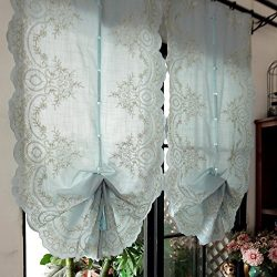 EQEQ Silk Road Roman blinds can the partition of embroidery decorative curtain flywheels for lou ...