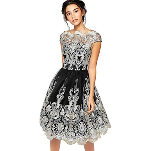 AmyDong Hot Sale Women's Dress, Women Lace Silk Embroidery Prom Formal Evening Party Bride ...