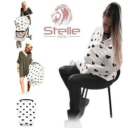 Stelle Baby Nursing Breastfeeding Cover Scarf Poncho – Car Seat Canopy Shopping Cart Strol ...