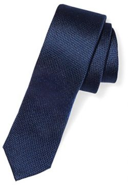 Buttoned Down Men's Classic Silk 2″ Skinny Necktie, Navy Texture, Regular