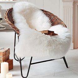 Eanpet Sheepskin Area Rug 2 x 3FT Soft Fur Rug Australian Sheepskin Throw Carpet Seat Cover Mats ...
