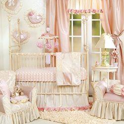 Crib Bedding Set by Glenna Jean | Baby Girl Nursery + Hand Crafted with Premium Quality Fabrics  ...