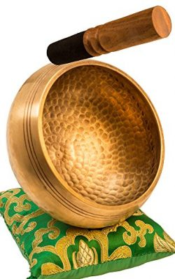 Tibetan Singing Bowl Set By YAK THERAPY- Chakras Healing & Meditation Yoga Sound Bowl with M ...