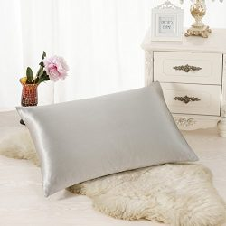 ALASKA BEAR Luxurious 25 momme Silk Pillowcase, 100% Mulberry Silk Pillow Case Cover, Standard(1 ...