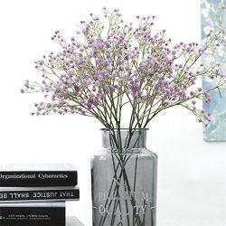 Crt Gucy Artificial Flowers 9Pcs 21″ Baby Breath/Gypsophila Fake Silk Plants Wedding Party ...