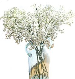LNHOMY 8PCS Artificial Gypsophila Real Touch Flowers Baby Breath 90 Heads Each Fake Silk Plants  ...