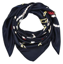 corciova 35″ Large Women's Satin Square Silk Feeling Hair Scarf Wrap Headscarf Oxfor ...