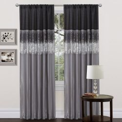 Lush Decor Night Sky Curtain Panel, Black/Gray