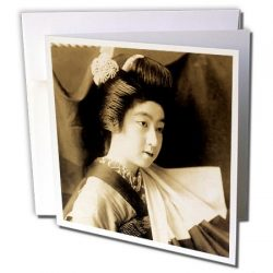 Scenes from the Past Magic Lantern Slides – Vintage Japanese Geisha Posed in a Silk Curtai ...