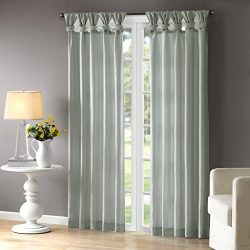 Madison Park Aqua Curtains For Living Room, Transitional Fabric Curtains For Bedroom, Emilia Sol ...
